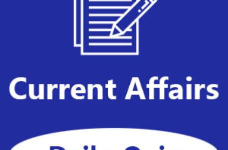 Current Affairs Quiz: 05-01-2020