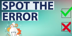 Spotting Error Tricks and Test Series