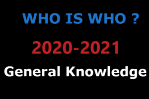 India Who is Who General Knowledge 2021